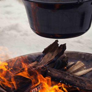 Hasenöhrl-Hof Show Cooking: Kochen am offenen Feuer begeistert unsere Gäste.