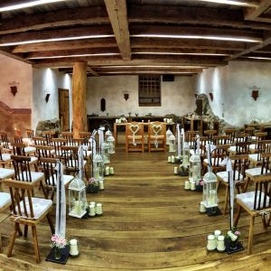 Der Hasenöhrl-Hof als Hochzeitslocation: Sogar für eine romantische Trauung bietet der Hof beste Voraussetzungen.