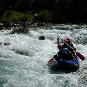 Rafting auf der Isar – nur Kollegen im Boot